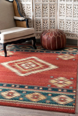 nuLoom Tribal Diamond Margene Rectangular Rug