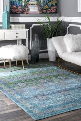 nuLoom Vintage Tile Lakeshia Rectangular Rug