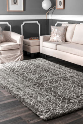 nuLoom Hurley Tribal Shaggy Rectangular Rug