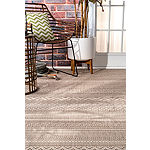 nuLoom Erlinda Tribal Outdoor Rectangular Rug