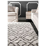 nuLoom Willette Diamond Shaggy Rectangular Rug