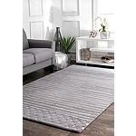 nuLoom Hand Loomed Marlowe Stripes Rectangular Rug