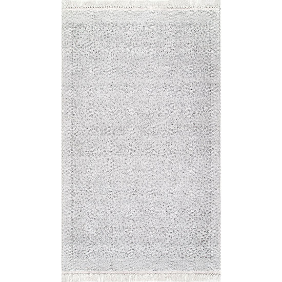 Nuloom Mozelle Tassel Bordered Rectangular Rug