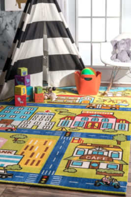 nuLoom Zenaida Neighborhood Printed Playtime Rectangular Rug