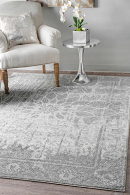 nuLoom Roxane Faded Rosette Rectangular Rug