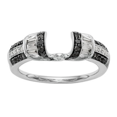 Womens 1/2 CT. T.W. Multi Color Diamond 14K Gold Ring Enhancer