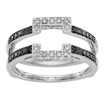 Womens 3/8 CT. T.W. Genuine Multi Color Diamond 14K White Gold