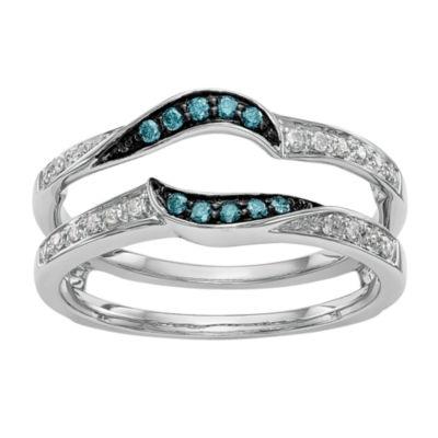 Womens 1/6 CT. T.W. Multi Color Diamond 14K Gold Ring Guard