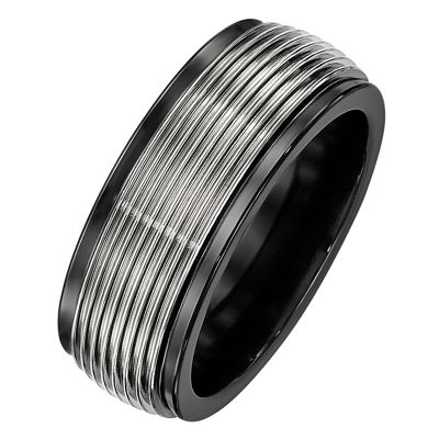 Edward Mirell Mens 9M Titanium Wedding Band