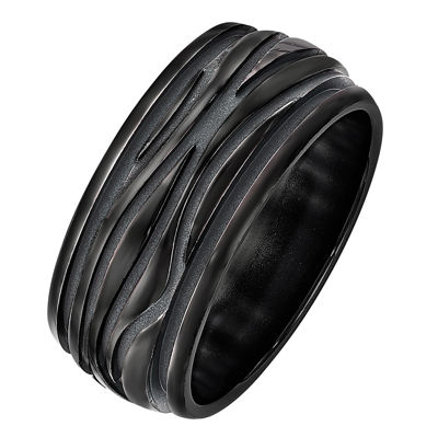 Edward Mirell Mens 10mm Titanium Wedding Band
