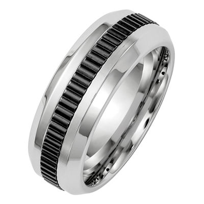 Edward Mirell Mens Cobalt Wedding Band