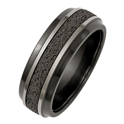 Edward Mirell Mens 8mm Titanium Wedding Band