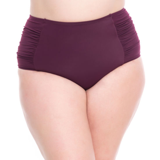 Boutique + High Waist Swimsuit Bottom-Plus