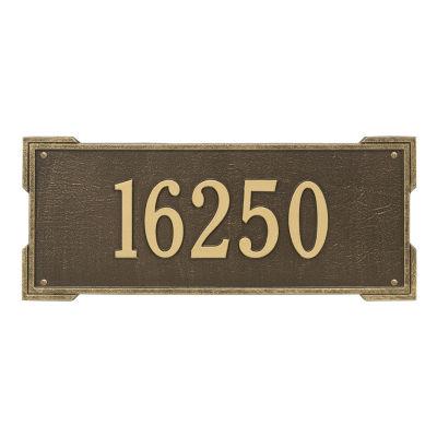 Whitehall Personalized Roanoke Estate Wall Address Plaque - 1 Line