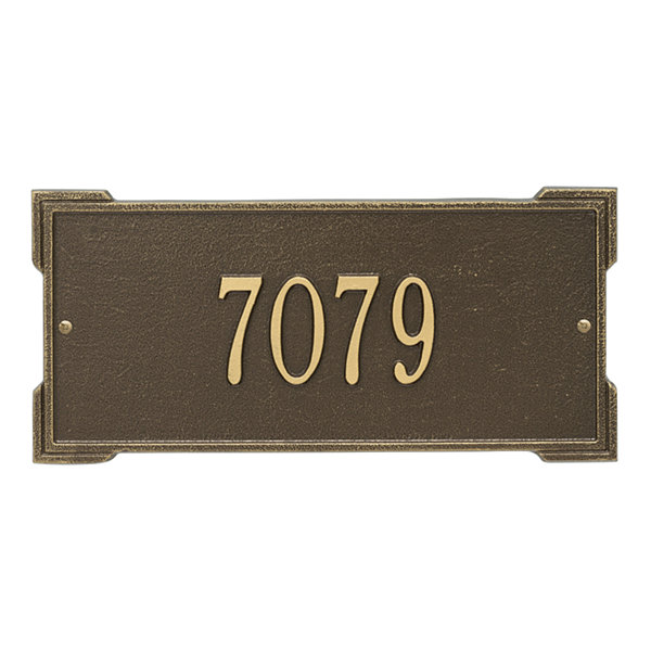 Whitehall Personalized Roanoke Standard Wall Address Plaque - 1 Line