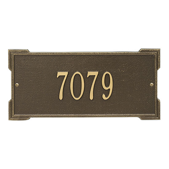 Whitehall Personalized Roanoke Standard Wall Address Plaque - 1 Line