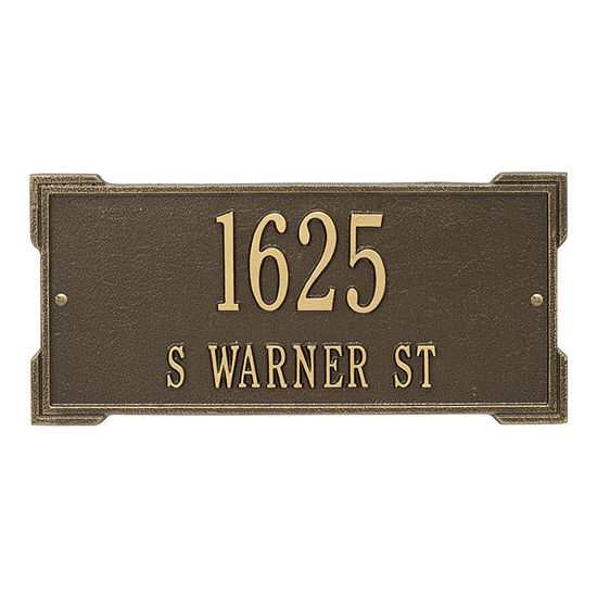 Whitehall Personalized Roanoke Standard Wall Address Plaque - 2 Line