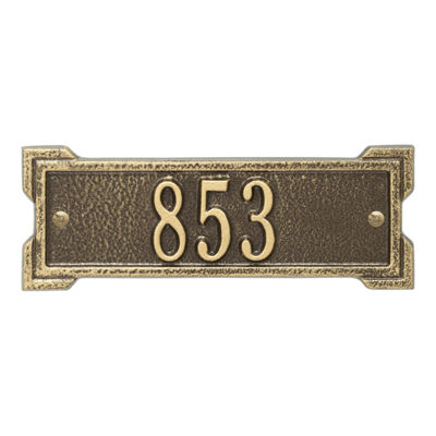 Whitehall Personalized Roanoke Petite Address Plaque - 1 Line