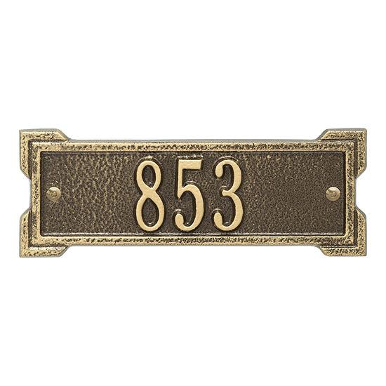 Whitehall Personalized Roanoke Petite Address Plaque - 1 Line