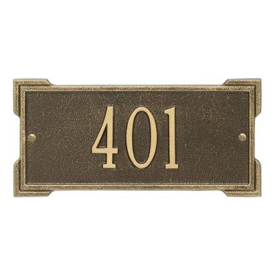 Whitehall Personalized Roanoke Mini Address Plaque- 1 Line