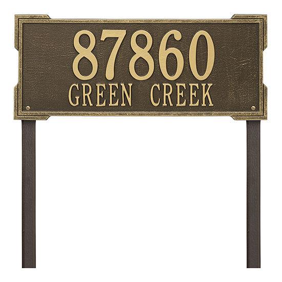 Whitehall Personalized Roanoke Estate Lawn Address Plaque - 2 Line
