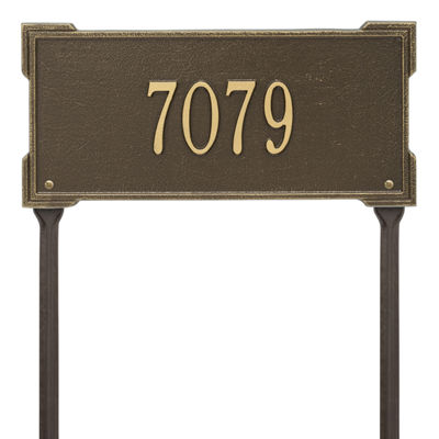 Whitehall Personalized Roanoke Standard Lawn Address Plaque - 1 Line