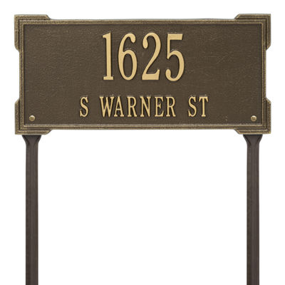 Whitehall Personalized Roanoke Standard Lawn Address Plaque - 2 Line