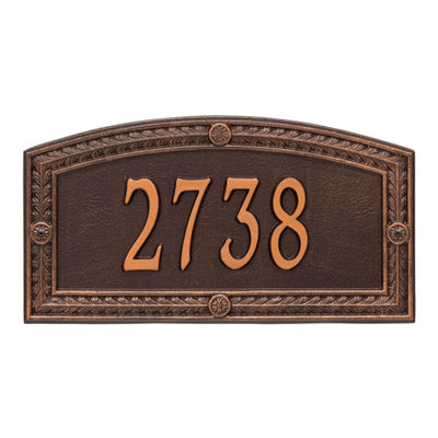 Whitehall Personalized Hamilton Standard Wall Address Plaque - 1 Line