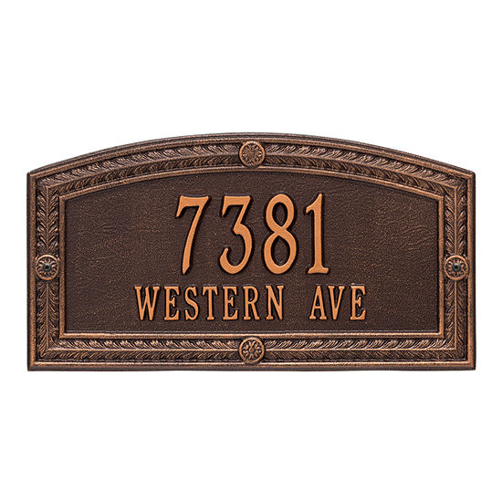 Whitehall Personalized Hamilton Standard Wall Address Plaque - 2 Line