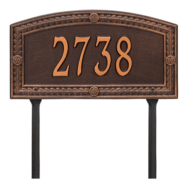 Whitehall Personalized Hamilton Standard Lawn Address Plaque - 1 Line