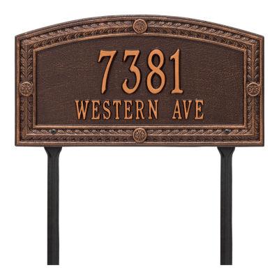 Whitehall Personalized Hamilton Standard Lawn Address Plaque - 2 Line