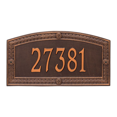 Whitehall Personalized Hamilton Estate Wall Address Plaque - 1 Line
