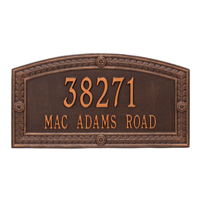 Whitehall Personalized Hamilton Estate Wall Address Plaque - 2 Line