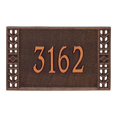 Whitehall Personalized Boston Standard Wall Address Plaque - 1 Line