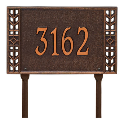 Whitehall Personalized Boston Standard Lawn Address Plaque - 1 Line
