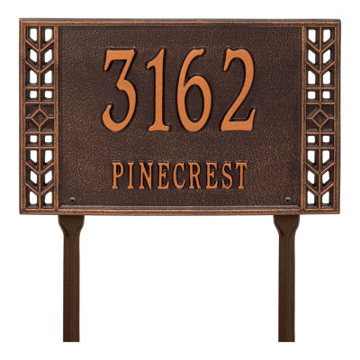 Whitehall Personalized Boston Standard Lawn Address Plaque - 2 Line
