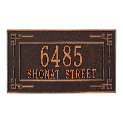 Whitehall Personalized Key Corner Standard Wall Address Plaque - 2 Line