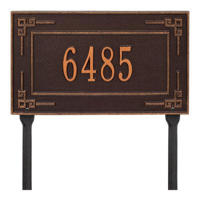 Whitehall Personalized Key Corner Standard Lawn Address Plaque - 1 Line