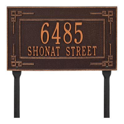 Whitehall Personalized Key Corner Standard Lawn Address Plaque - 2 Line
