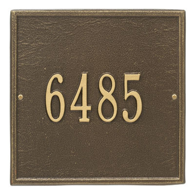 Whitehall Personalized Square Standard Wall Address Plaque - 1 Line