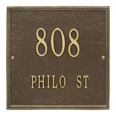 Whitehall Personalized Square Standard Wall Address Plaque - 2 Line