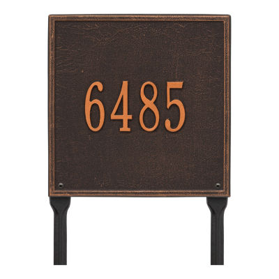 Whitehall Personalized Square Standard Lawn Address Plaque - 1 Line
