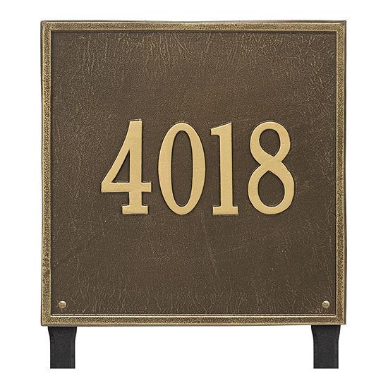 Whitehall Personalized Square Estate Lawn Address Plaque - 1 Line