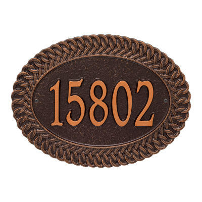 Whitehall Personalized Chartwell Standard Wall Address Plaque - 1 Line