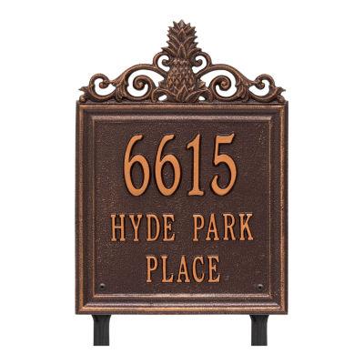 Whitehall Personalized Lanai Standard Lawn Address Plaque - 3 Line