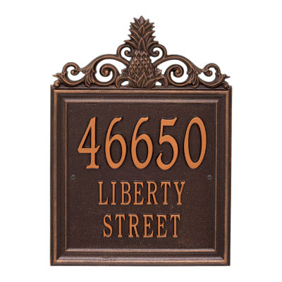 Whitehall Personalized Lanai Estate Wall Address Plaque - 3 Line