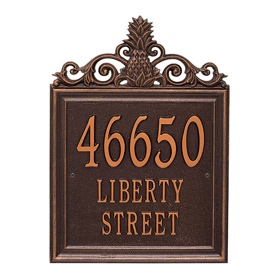 Whitehall Personalized Lanai Estate Wall Address Plaque - 3 Line