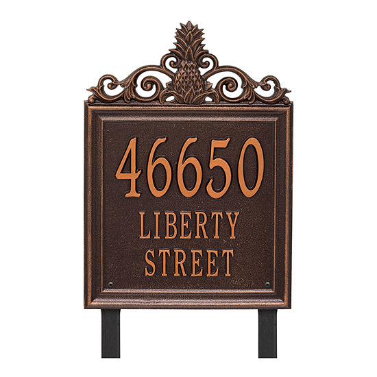 Whitehall Personalized Lanai Estate Lawn Address Plaque 3 Line