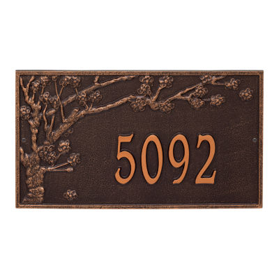 Whitehall Personalized Spring Blossom Estate WallAddress Plaque - 1 Line