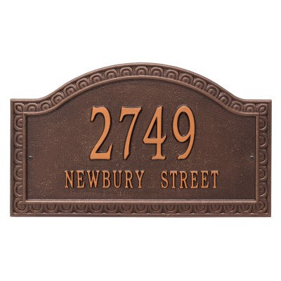 Whitehall Personalized Penhurst Grande Wall Address Plaque - 2 Line